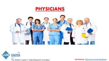 Prospective physician email list