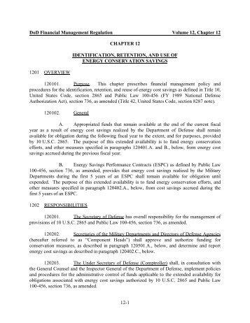 DoD Financial Management Regulation Volume 12 ... - Comptroller