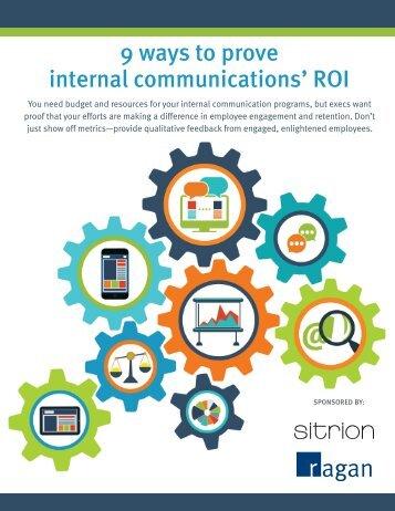 9 ways to prove internal communications' ROI