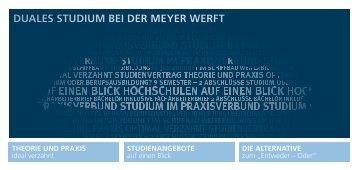 geht's zum Flyer Duales Studium - Meyer Werft