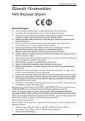 Sony VPCM11M1E - VPCM11M1E Documents de garantie Turc - Page 5