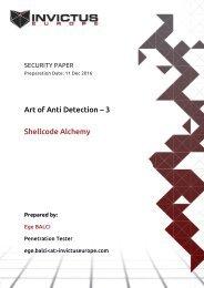 Art of Anti Detection – 3 Shellcode Alchemy