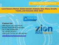 Level Sensors Market, 2016 – 2024