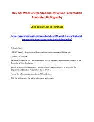organizational structure presentation annotated bibliography hcs 325