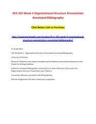 organizational structure presentation annotated bibliography hcs 325