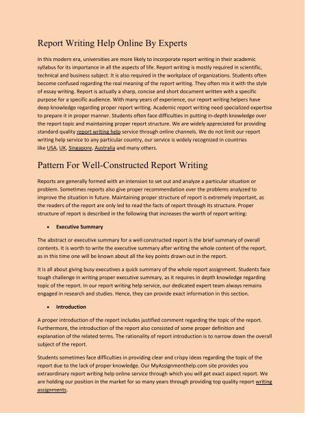 top report writers sites online