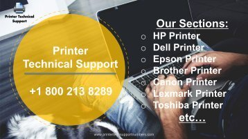 Printer technica support service