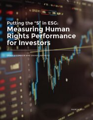 Measuring Human Rights Performance for Investors