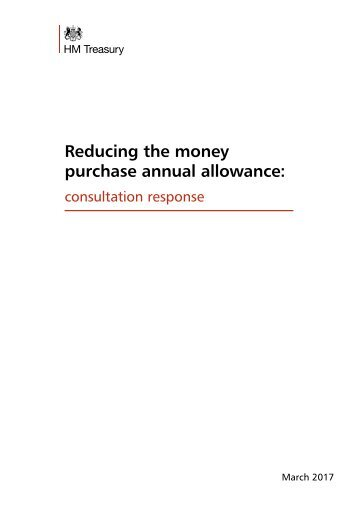 Reducing the money purchase annual allowance