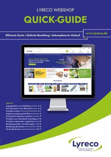 Lyreco Webshop QuickGuide