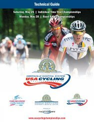 Technical Guide - USA Cycling