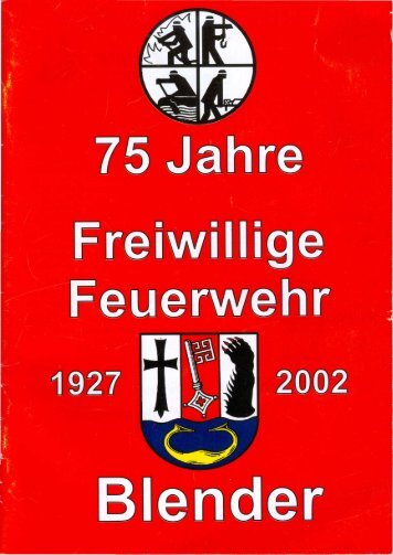 Page 1 Page 2 75 Jahre Freiwillige Feuerwehr Blender Programm ...