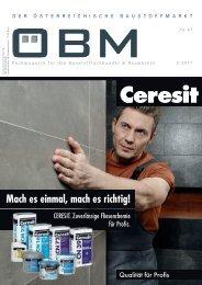 2017-3 ÖBM Der Österreichische Fachmarkt - Ceresit - mach es einmal, mach es richtig