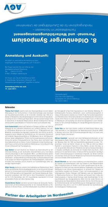 8. Oldenburger Symposium - Arbeitgeberverband Oldenburg