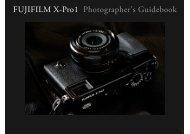 FUJIFILM X-Pro1 Photographes's Guidebook