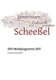 Wahlprogramm der SPD Scheeßel für die Kommunalwahl 2011