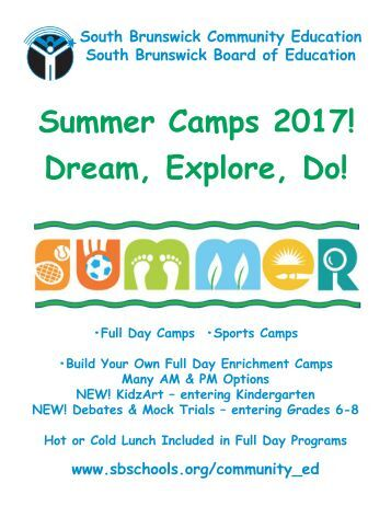 Summer Camps 2017! Dream Explore Do!