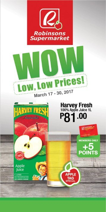 ROBINSONS SUPERMARKET CATALOG expires March 30, 2017