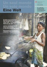 Un seul monde Un solo mondo Eine Welt Ernährungssicherheit - Deza