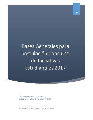 Bases Iniciativas Estudiantiles RREE 2017 Académico CCCV