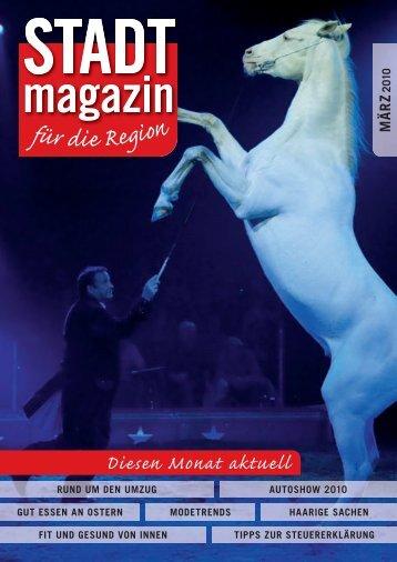 Ausgabe März 2010 - STADTmagazin Rapperswil-Jona