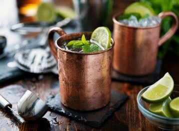 Copper Mugs for Moscow Mule Cocktails