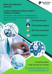 Global Hormone Replacement Therapy Market 2016-2021: Competitive Landscape Analysis