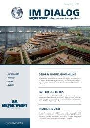 """Partner des Jahres 2007"""" event held on January 24 ... - Meyer Werft"""