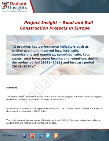 Project Insight – Road and Rail Construction Projects in Europe