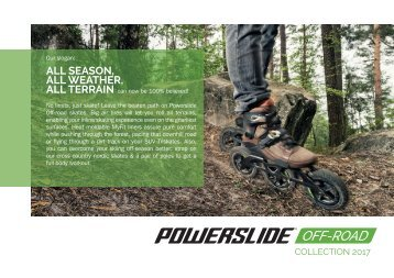 Powerslide Off-Road Inline Skates Collection 2017
