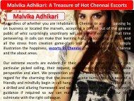 Malvika Adhikari - A Treasure of Hot Chennai Escorts