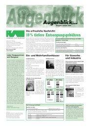 10 % tiefere Entsorgungsgebühren - beim Verband KVA Thurgau