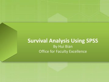 Survival Analysis Using SPSS