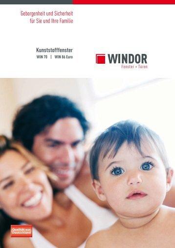 Kunststofffenster WIN 70/86 Euro - WINDOR Fensterwerk