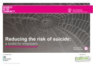 Reducing the risk of suicide
