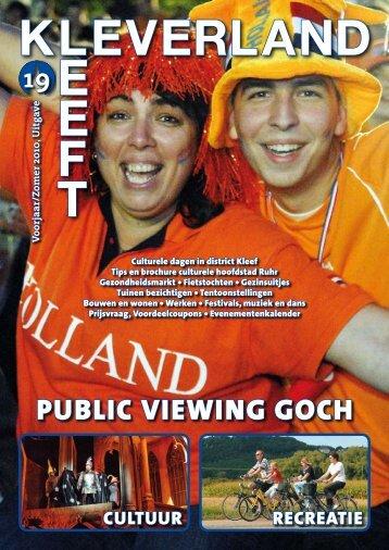 17 april aanstaande Sluiting: 24 oktober 2010 - KLEVERLAND LEEFT
