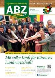 Allgemeine Bauernzeitung  - Ausgabe 01 - 2017 (Kärntner Bauernbund)