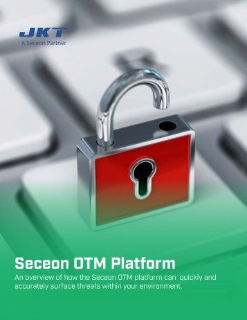 An overview of how the Seceon OTM platform can quickly and accurately surface threats within your environment