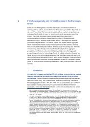 2 Firm heterogeneity and competitiveness in the European Union