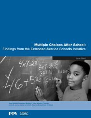 Multiple Choices After School - National Service Resource Center