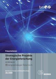 Strategische Projekte der Energieforschung