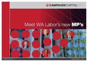 Meet WA Labor's new MP's