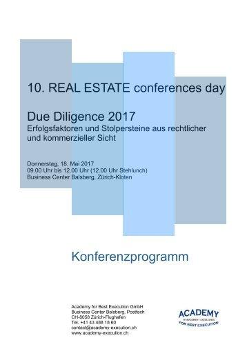 Konferenzprogramm Due Diligence 2017