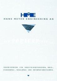 Firmenprospekt HME - Hans Meyer Engineering AG