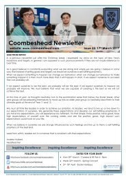 Coombeshead Academy Newsletter - Issue 55