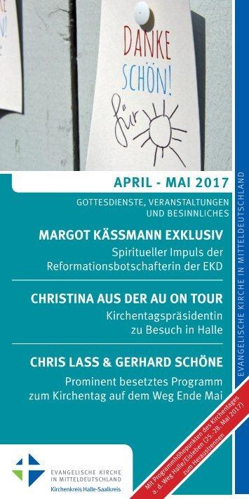 Programm des Evang. Kirchenkreises Halle-Saalkreis für April und Mai 2017