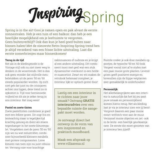 Villa ArenA | Inspiring spring