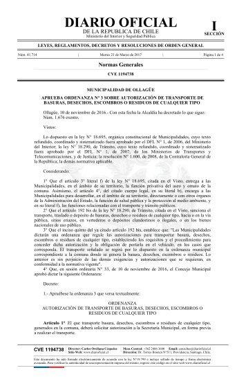 DIARIO OFICIAL I