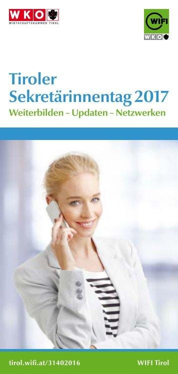 Tiroler Sekretärinnentag 2017 - Folder