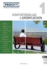 Komfortmöbilar | Grünflächenmobiliar | Entspannungsmobilar | Procity 1 Katalog | SIPIRIT GmbH Kommunalbedarf